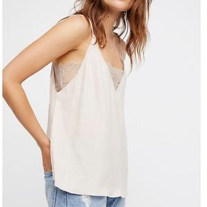NWT • Free People Deep V Bandeau Cami